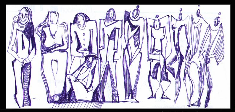 Zeichnen im Atelier